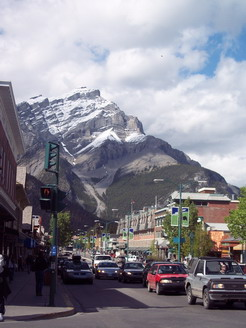 Looking down Main St Banff.
