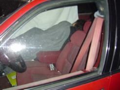 Sleeping in thecar