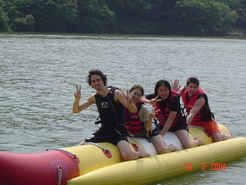 Weekend trip away - Banana boat.