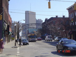 High St, looking to downtown Columbus.