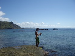 Going Snorkling at Goat Island, bloodycold