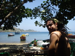 Taganga on the not so great beach.