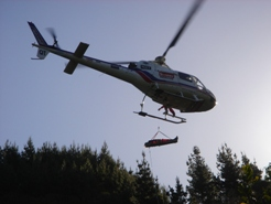 Getting winched up, off tohospital