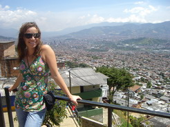 Mandy with Medellin in Background
