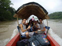 On way by river boat to Guatemala