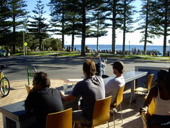 Having a Sunday afternoon coffee in Cott watching the girls………i mean day pass us by.