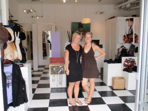 "Mandy and Karlye in her shop ""The End"""