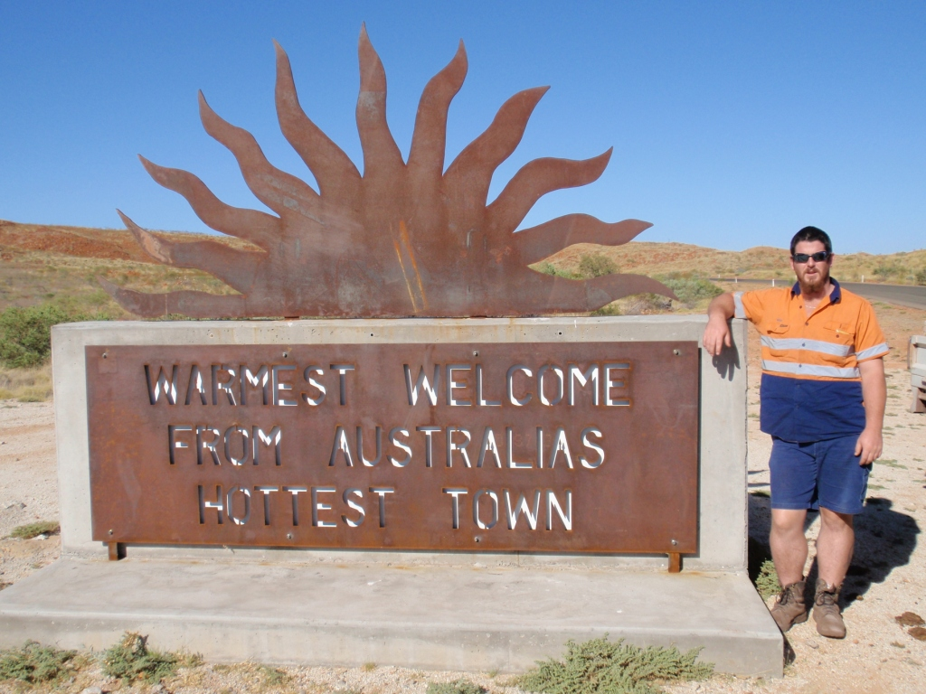 Boody at the warmest recodered town in Australia.